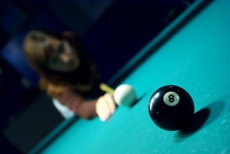 Billiards game. Scene from billiard club. Stock Photo - 7576589
