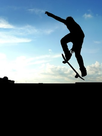 skatepark: Skater jump. Element of design. Stock Photo