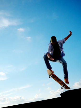 Perfect jump. Element of design. photo