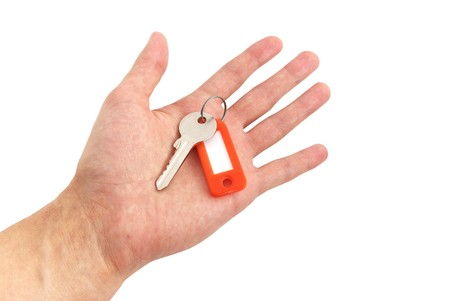 Key in hand. Element of design. photo