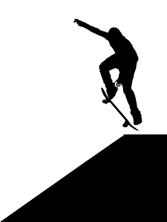 skateboarder: Skater jump. Element of design. Stock Photo