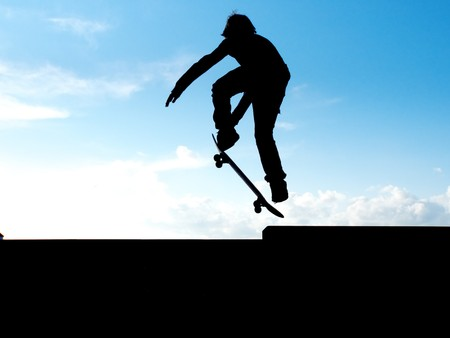 Skater jump. Element of design. photo