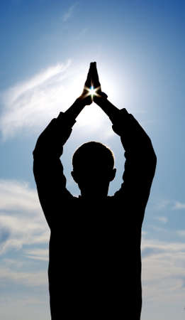 Star in hands. Elemant of design. Stock Photo - 7746078