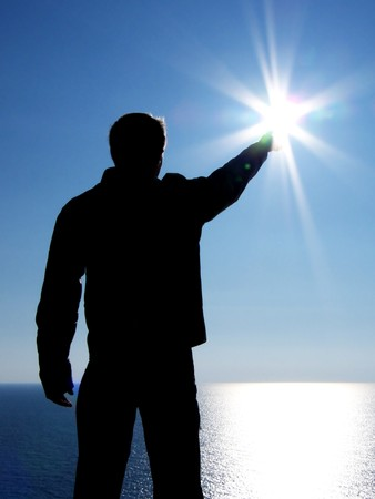 Touch to sun. Element of design. Stock Photo - 7746081