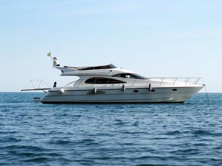 Sailboat in ocean. Element of design. photo