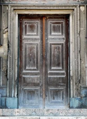 Old door. Element of design. photo