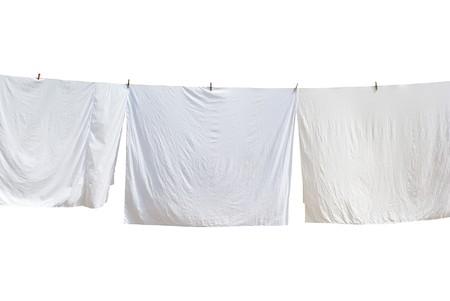 White laundry. Element of design. photo