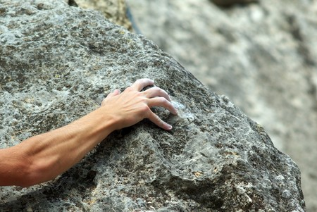 grasp: Rock climber. Element of design.