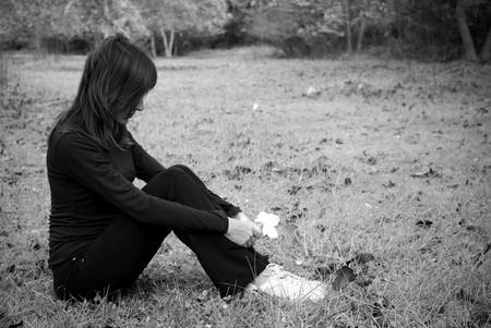 Sadness girl. Concept design. photo