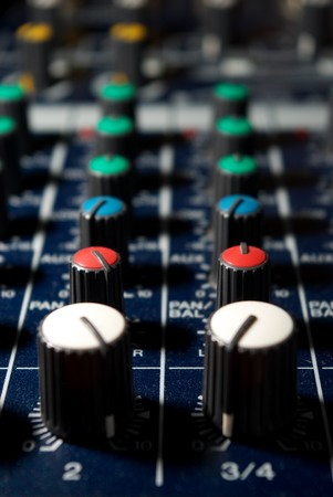 Sound controllers. Element of design. Stock Photo - 7990820
