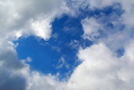Heart sign in sky. Nature composition. photo