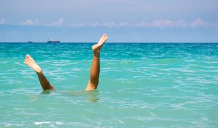 Stunt under water. Element of design. Stock Photo - 7990819
