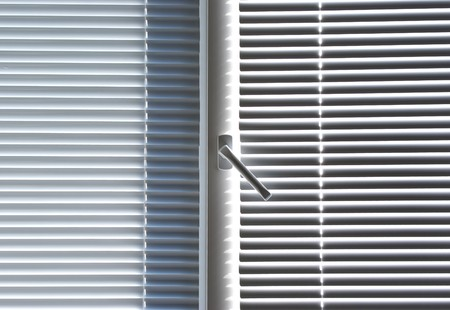 Window with jalousie. Element of design. photo