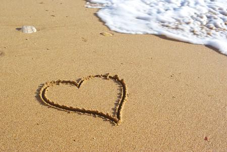 Heart on the beach. Conceptual design. Stock Photo - 8107424