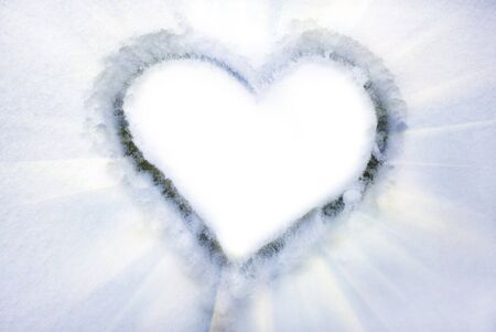 Heart on the snow. Element of design. Stock Photo - 8163778