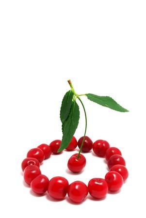 Group of cherries. Element of design. photo
