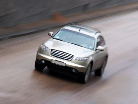 Car on speed photo