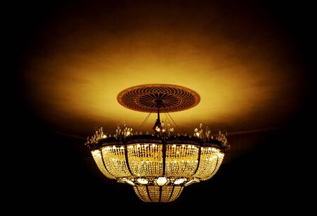 Big chandelier. Element of design. photo