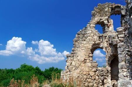 Ancient ruins. Part of old castle.  photo