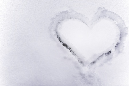 Heart on the snow. Element of design. Stock Photo - 8317424