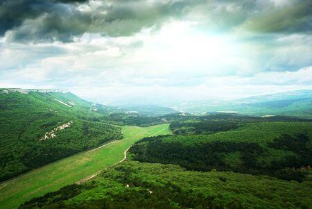 season specific: Thunder in mountain. Season specific. Nature design.