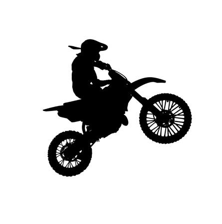 stunts: Silhouette di moto. Elemento di desogn lo sport. Archivio Fotografico