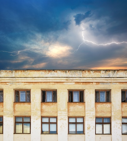 Old and scary building. Element of design. Stock Photo - 8824343