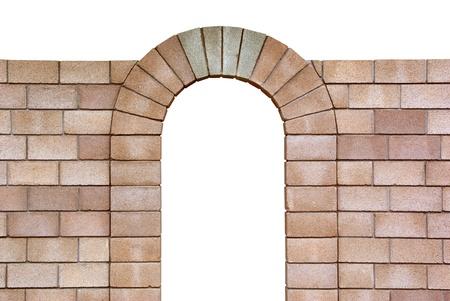 arcos de piedra: Arco aislado con. Objetos con trazados de recorte. Elemento de diseño. Foto de archivo