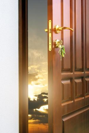 open houses: Doorway. Element of conceptual design. Stock Photo