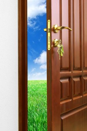 Doorway. Element of conceptual design. photo