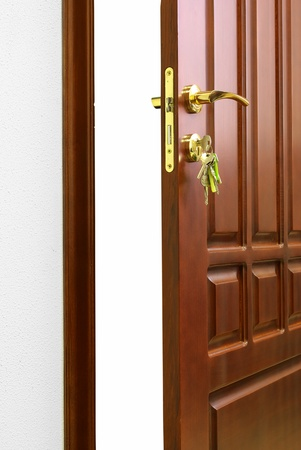 door handle: Doorway. Element of conceptual design. Stock Photo