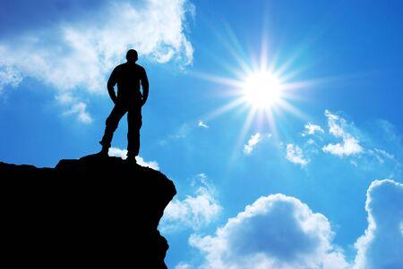 climbing: Hombre de monta�a. Dise�o conceptual.