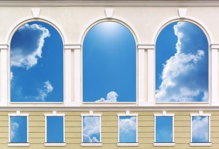 arcos de piedra: Windows aislados. Elemento de dise�o de arquitectura.