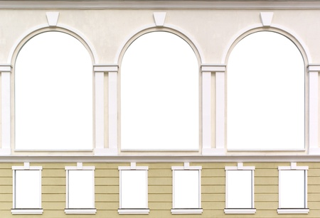 panoramic windows: Isolated windows. Element of architecture design.