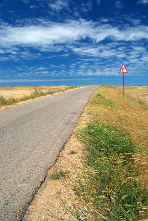 Road in desert. Element of design. Stock Photo - 9141472