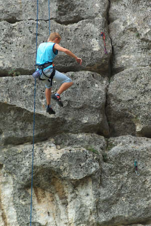 Rock climber. Element of design. Stock Photo - 9239577