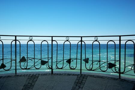 Balcony to the sea. Nature composition. photo