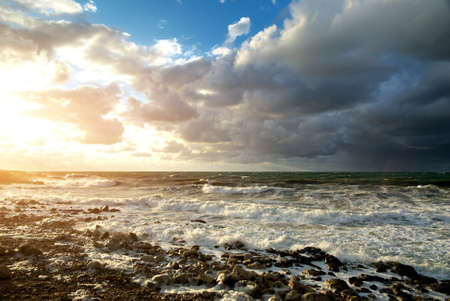 Storm on the sea. Nature composition. Stock Photo - 9474284