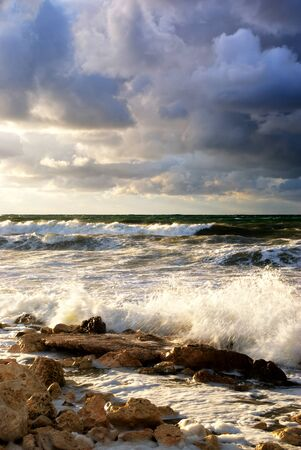 Storm on the sea. Nature composition. photo