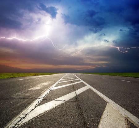 Deep road. Element of dersign. Stock Photo - 9512731