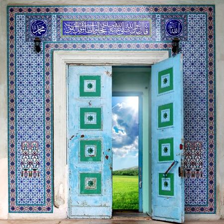 Vieille porte. Élément de design.