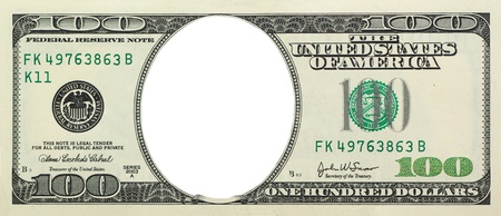 american currency: Empty dollar. Element of design.