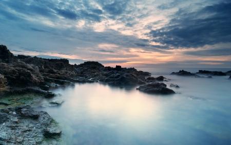 paysage marin: Beau paysage Compositon de la nature