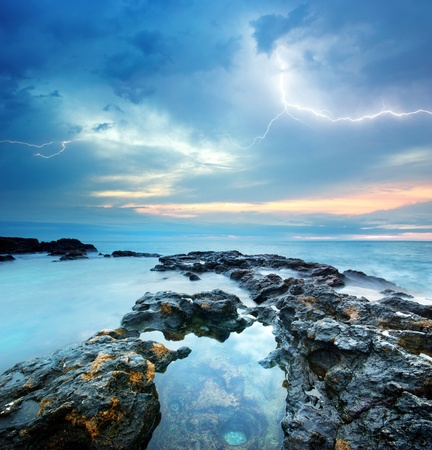 Sea storm. Composition of nature. photo