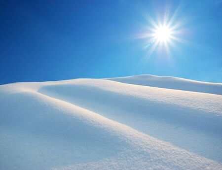 Snow hills. Composition of nature. Stock Photo - 9913822