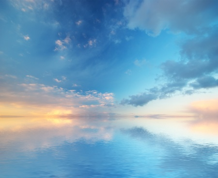 peaceful: Sky background.  Stock Photo