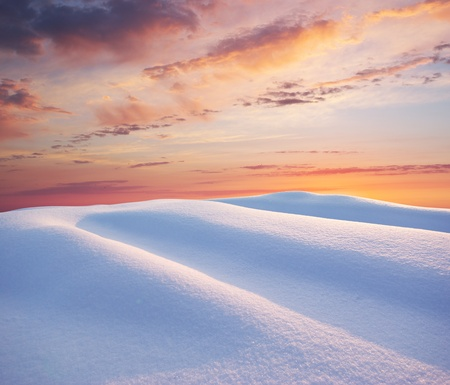 Snow hills. Composition of nature. Stock Photo - 10122275