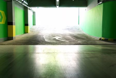 parking lot interior: Parking under ground. Building construction.