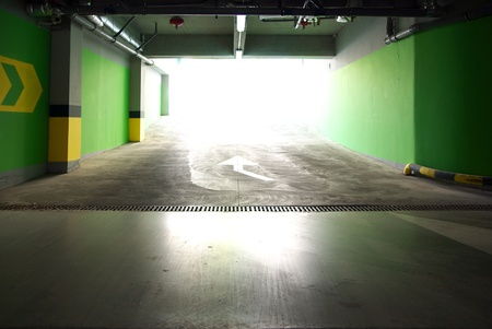 Parking under ground. Building construction.