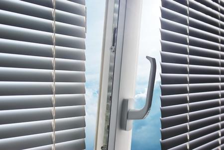 aluminium background: Sun through the window. Element of design.  Stock Photo